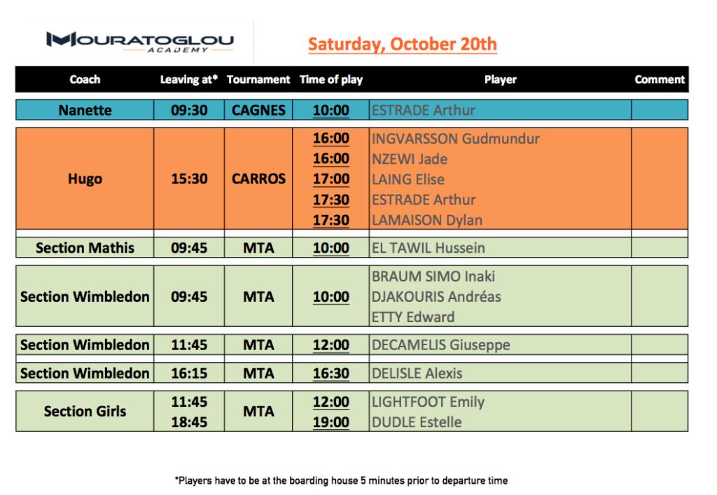 Saturday, October 20th Screen17