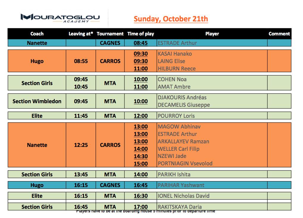 Sunday, October 21st Screen19