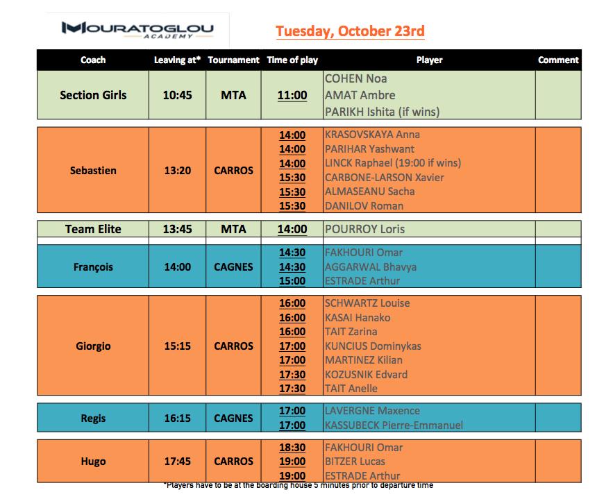 Tuesday, October 23rd Screen21