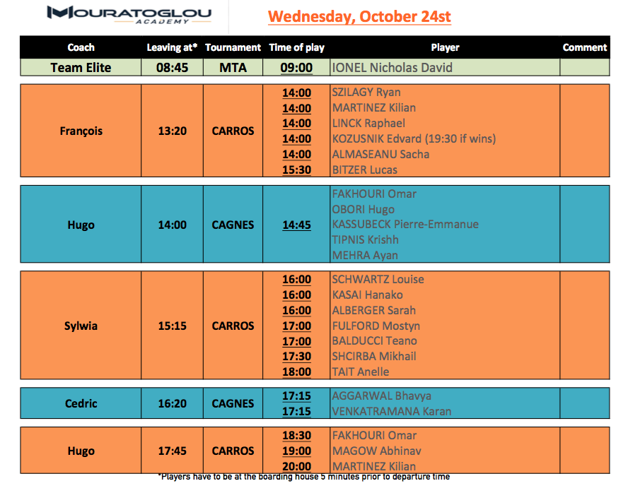 Wednesday, October 24th Screen23