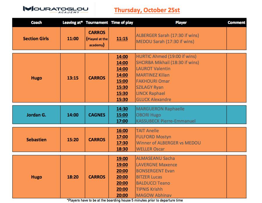 Thursday, October 25th Screen25