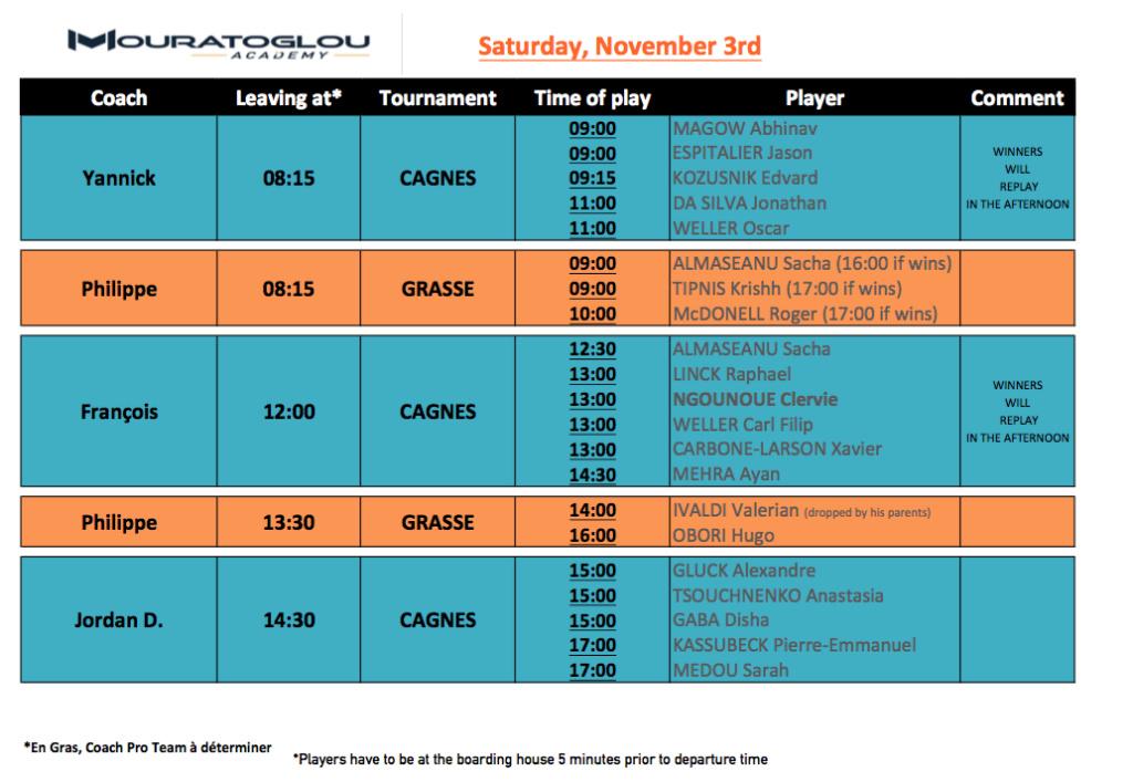 Saturday, November 3rd Screen35