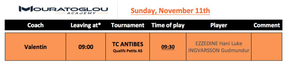 Sunday, November 11th Screen39