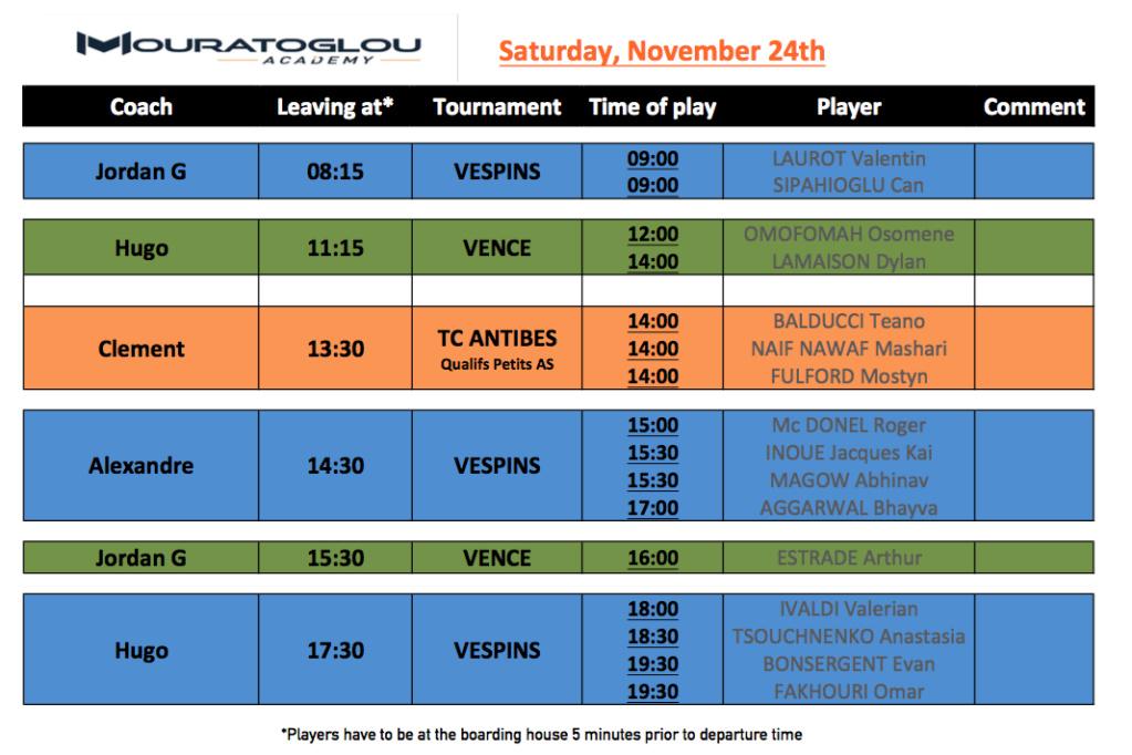 Saturday, November 24th Screen48