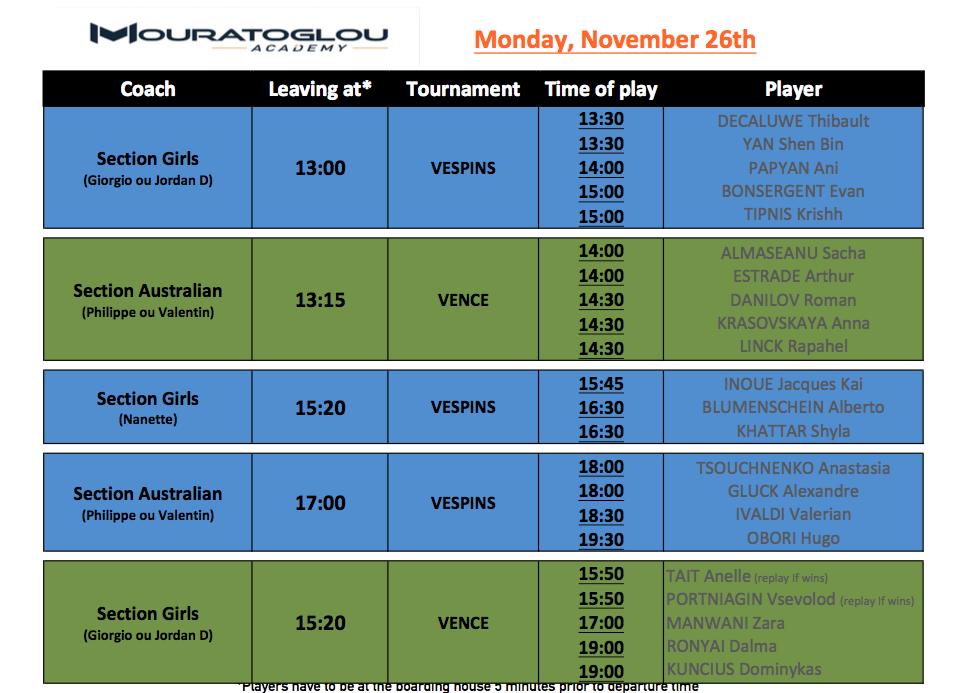 Monday, November 26th Screen50
