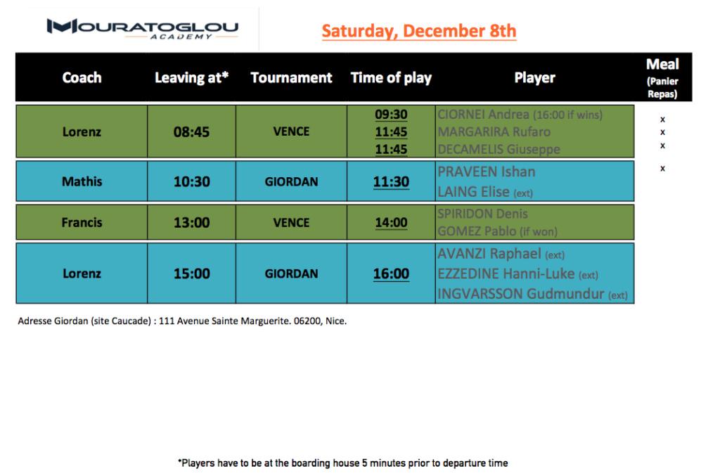 Saturday, December 8th Screen54