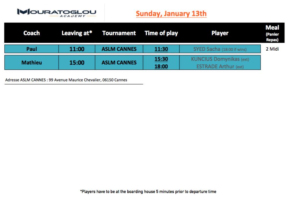 Sunday, January 13th Screen70
