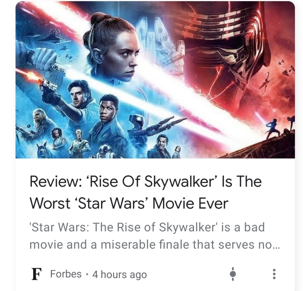 The Rise of Skywalker: Professional Reviews - Page 2 Screen21