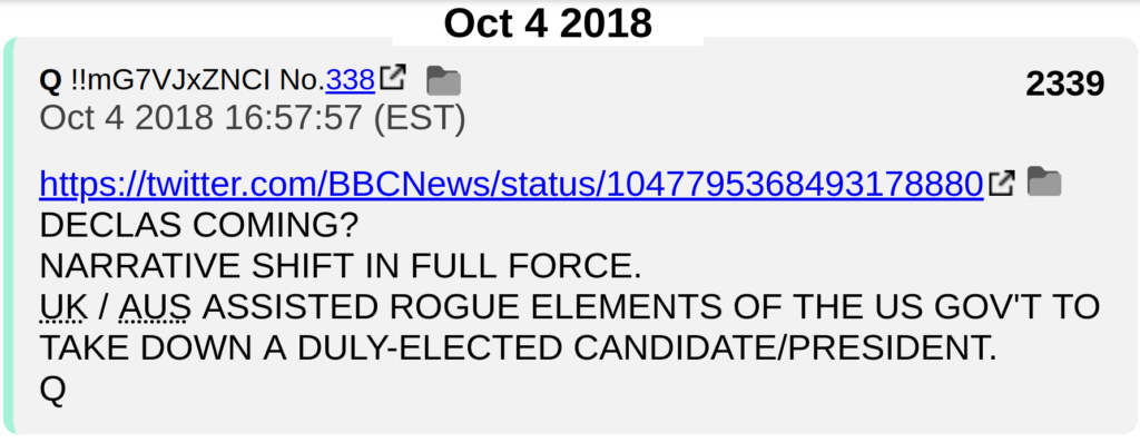 Q #2339 FOREIGN GOV'S ASSISTED ROGUE ELEMENTS TO TAKE DOWN ELECTED PRESIDENT!!!!!! Screen30