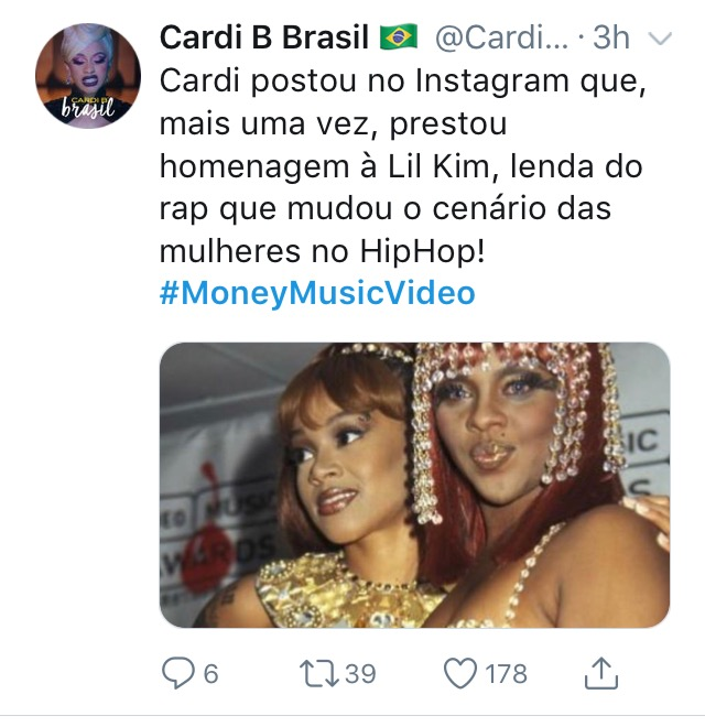 """Cardi B homenageia Lil Kim no clipe de """"Money"""".  Img_6823"""
