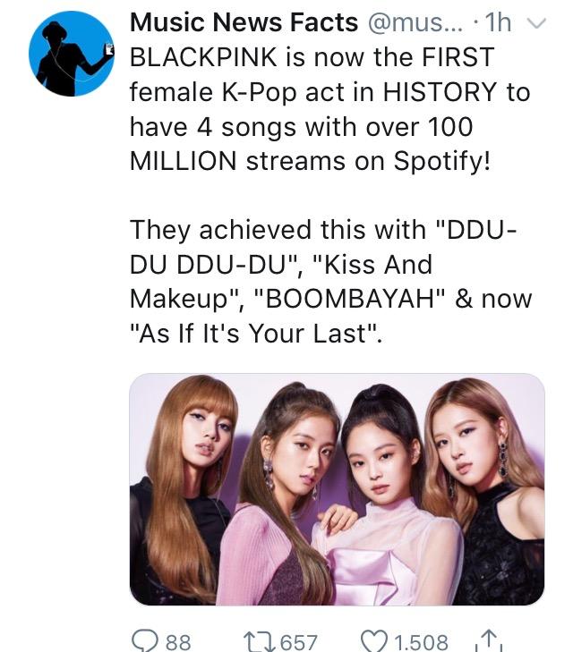 """As If It's Your Last"" ultrapassa a marca de 100 milhões de streams no Spotify  Img_6931"