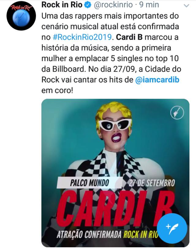 Cardi B é confirmada no Rock in Rio Scree313