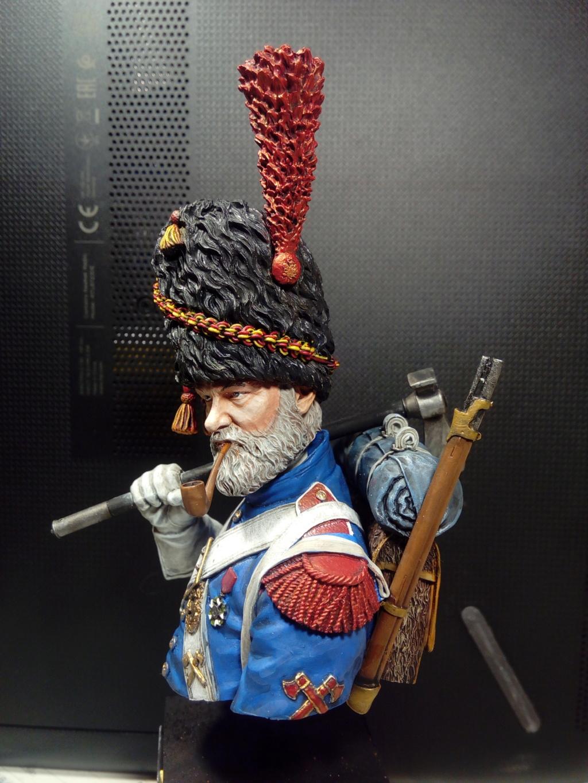 buste de sapeur grenadier napoléonien 410