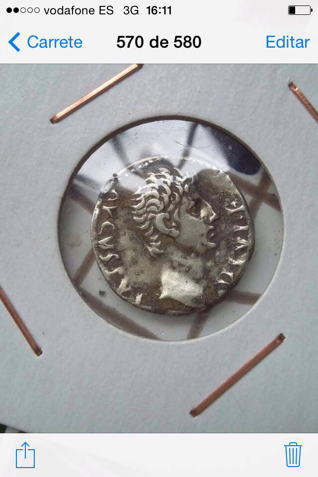 Denario de Augusto. Capricornio,debajo Avgvstvs. Ceca incierta 15356312