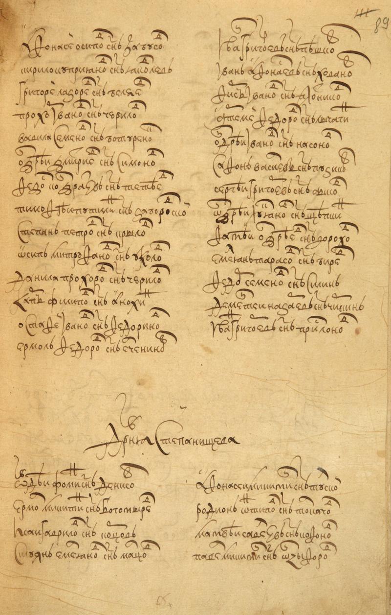 Список сел и деревень, входивших в состав Иловай-Рождественской волости Eao-1611