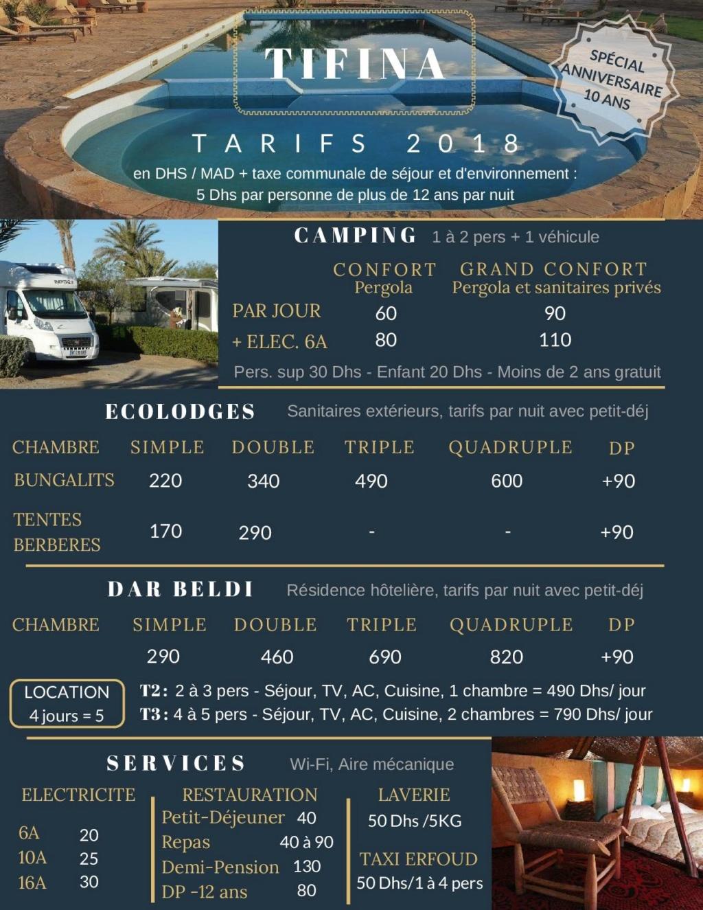 [Maroc Camp/Dernières nouvelles] Le Camping TIFINA à ERFOUD fête ses 10 ans ! Tarifs10