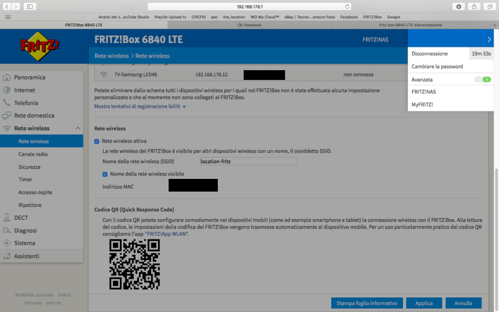 fritz box 6840 LTE disconnessione Scherm11