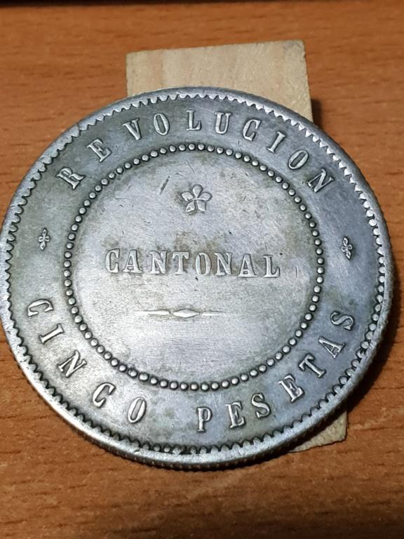 5 pesetas 1873. Revolución Cantonal 20181114