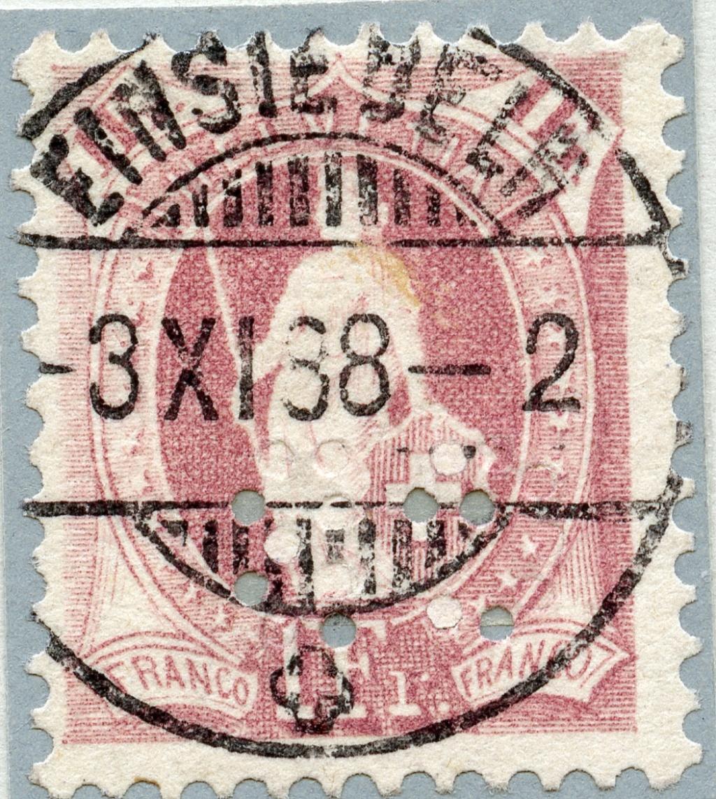 71A - Einsiedeln - Perfin Benzinger Jpg11