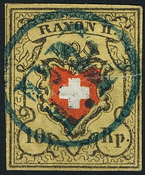 SBK 16II (Mi 8II) Bestimmung: Rayon II ohne Kreuzeinfassung Rayon_11