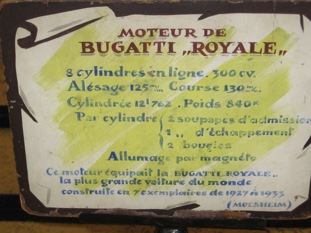moteur de bugatti royale, un grand, très grand monsieur. Rochet12