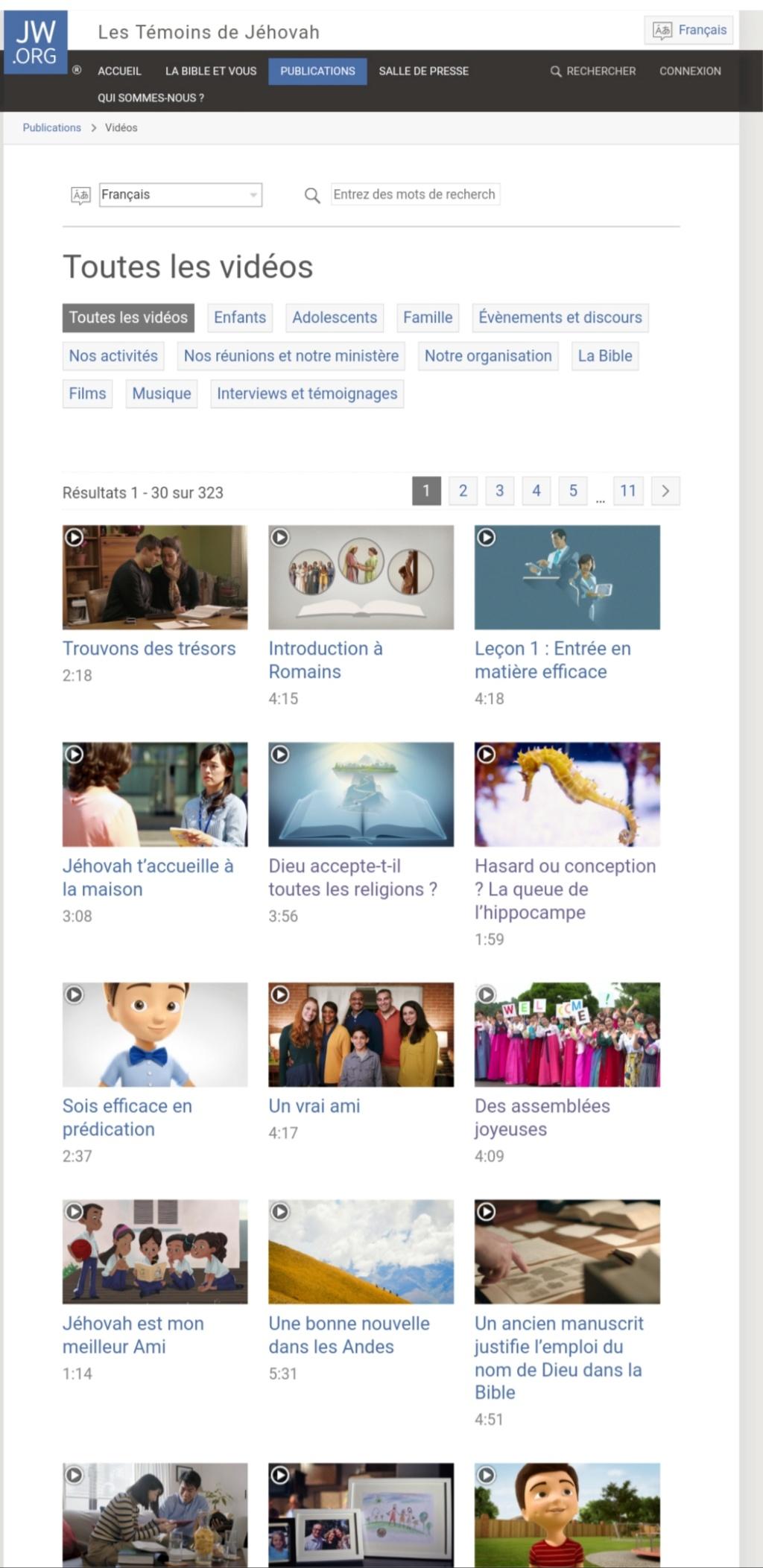 Que pensez vous des videos sur le site jw.com ? 20190114