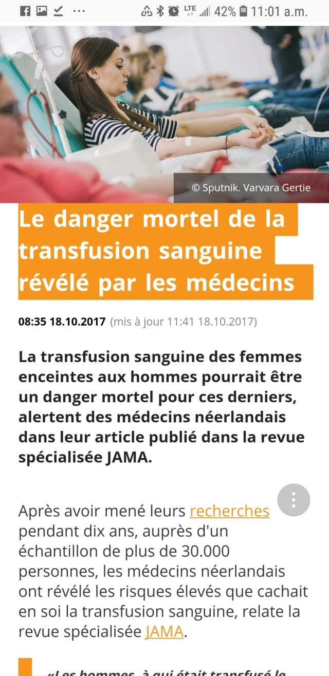 Les dangers MORTELS de la transfusion sanguine révélés par les medecins Screen23