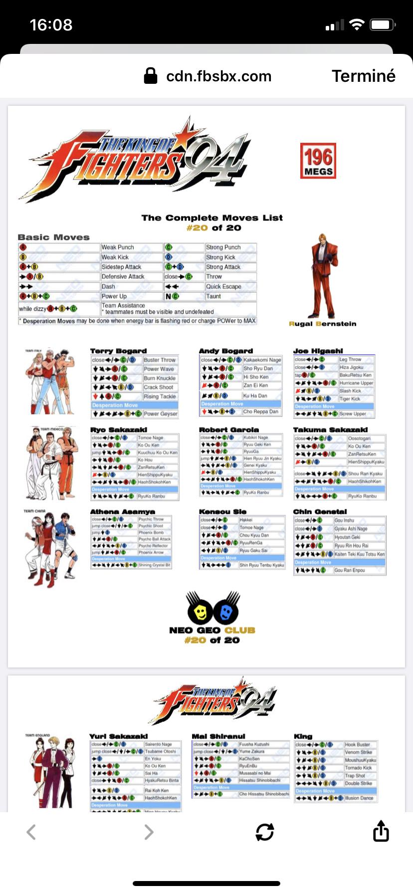 Centralisation des Moves Listes des Vs Fighting Neo Geo 80dcda10