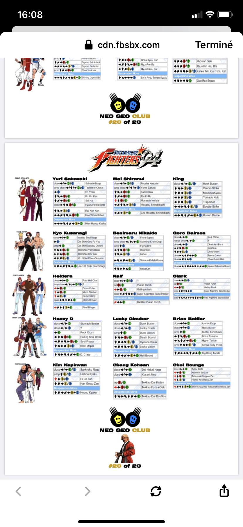 Centralisation des Moves Listes des Vs Fighting Neo Geo E028f810