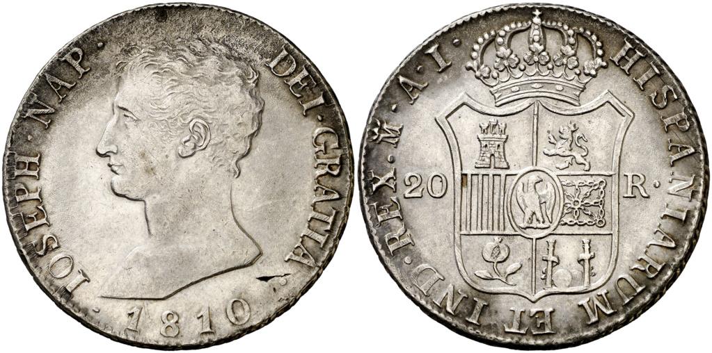 20 Reales José Bonaparte 1810. ¿Falsa de época o burda reproducción? 105610