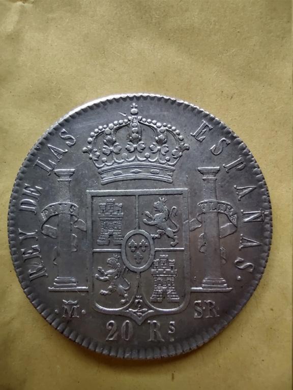 20 REALES DE VELLON 1822 MADRID Img_2011