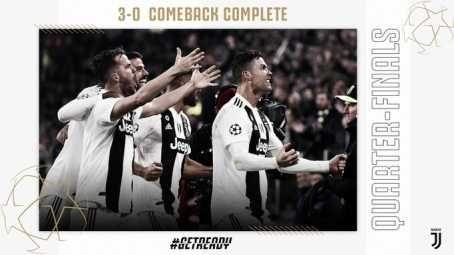 UCL: Cristiano Ronaldo Hat-Trick Shoots Juventus Into Quarter Finals (Photos)  89697510