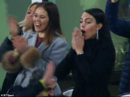 Cristiano Ronaldo's Girlfriend Georgina Rodriguez In Weeps for Joy After Hat-trick (Photos) 89703210