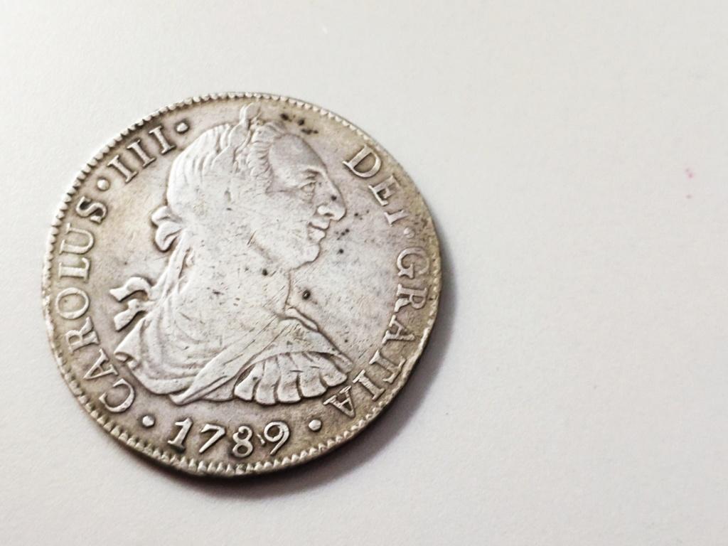 8 reales Carlos III. 1789. México.  Img_2019