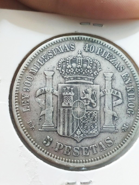 5 pesetas 1871 (*18-75). Amadeo I Img_2025