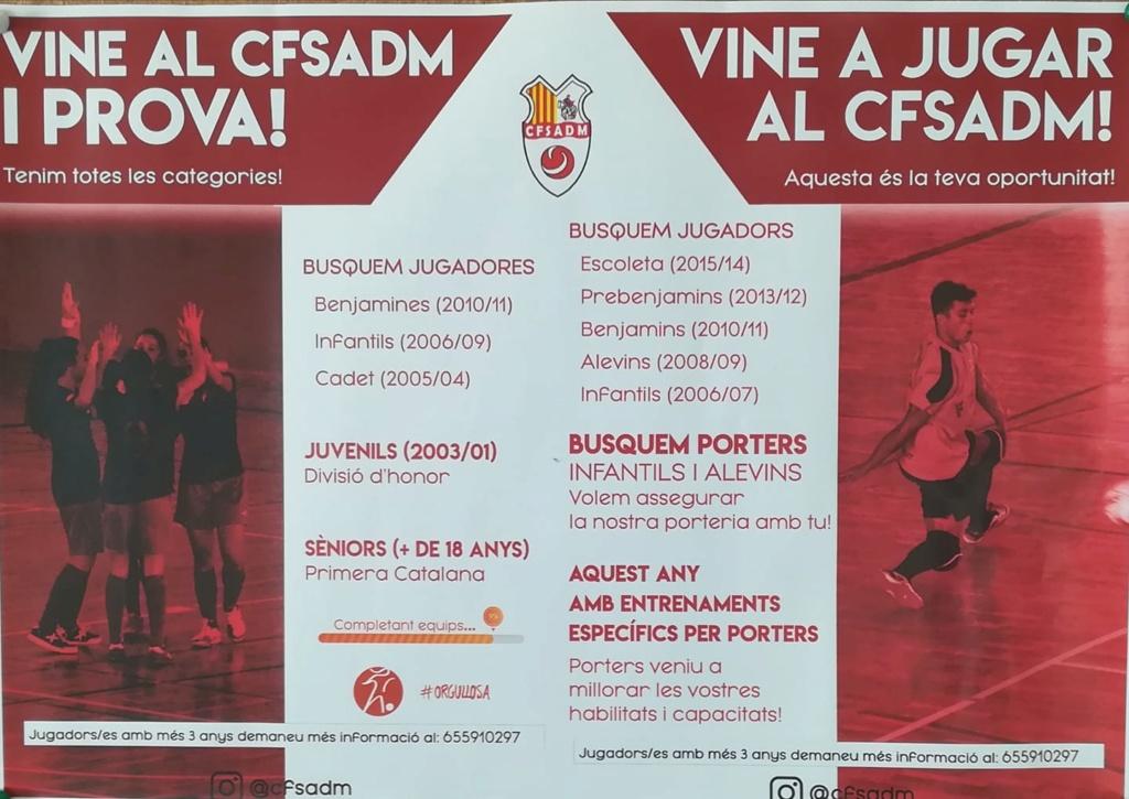 CFS Arenys de Munt busca jugadors/es... 70016510