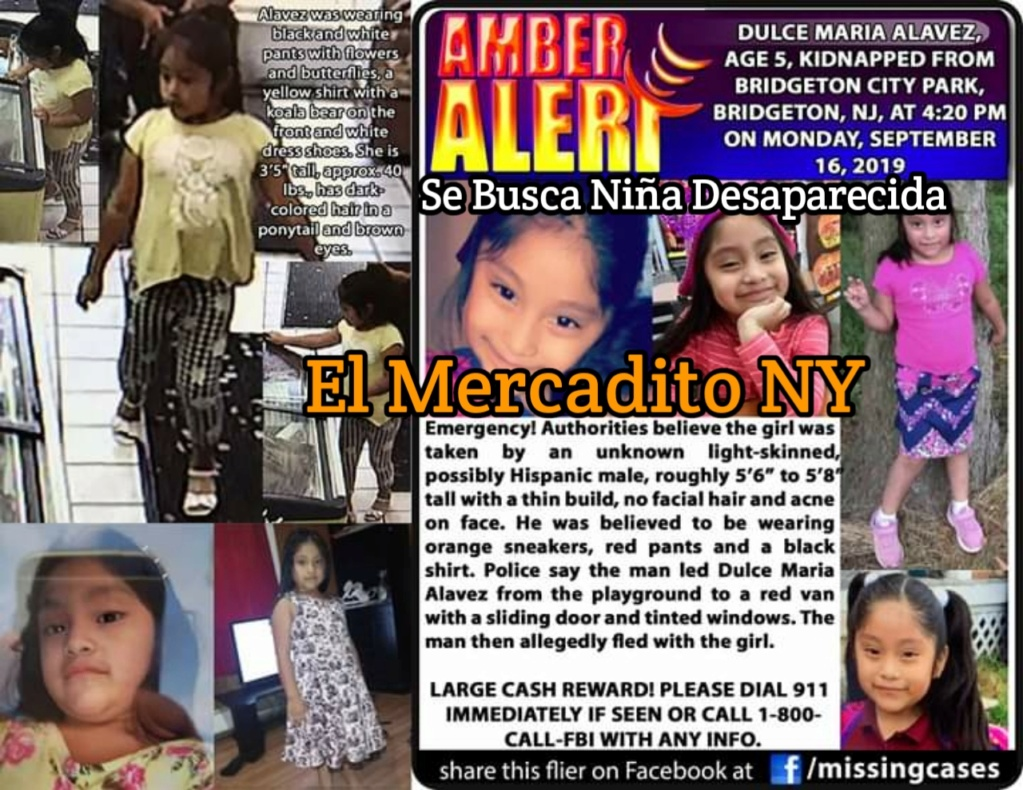 Ayuda a Encontrar Niñita Desaparecida 20190917