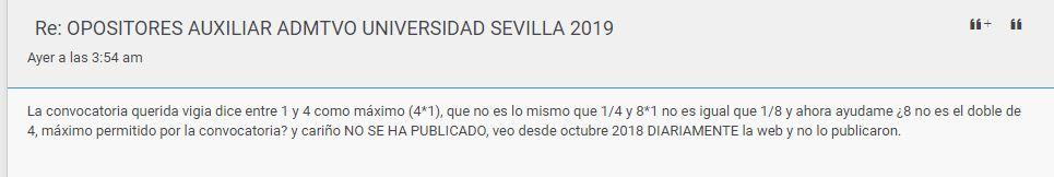OPOSITORES AUXILIAR ADMTVO UNIVERSIDAD SEVILLA 2019 Captur13
