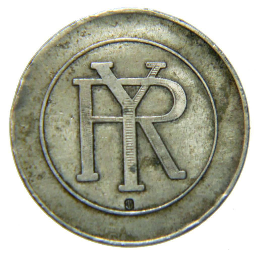 Ficha a identificar. Casino? 2,50 pesetas monograma RY P1430011