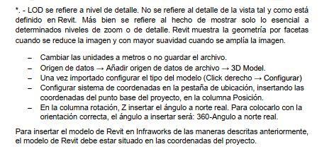 Incluir archivo Revit en InfraWorks con las coordenadas exactas 310