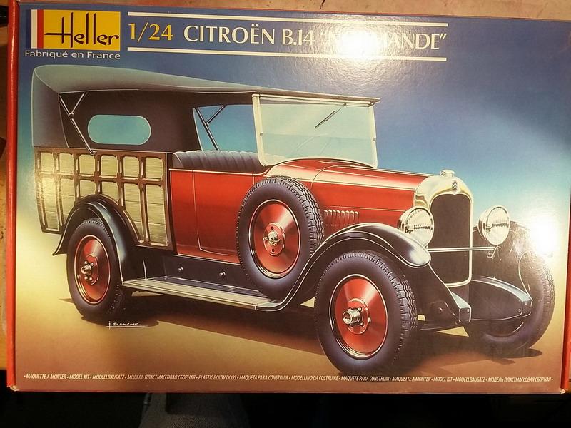 """Citroën B14 """"Normande"""" 1/24° Heller : chronique d'une déception... 20191111"""