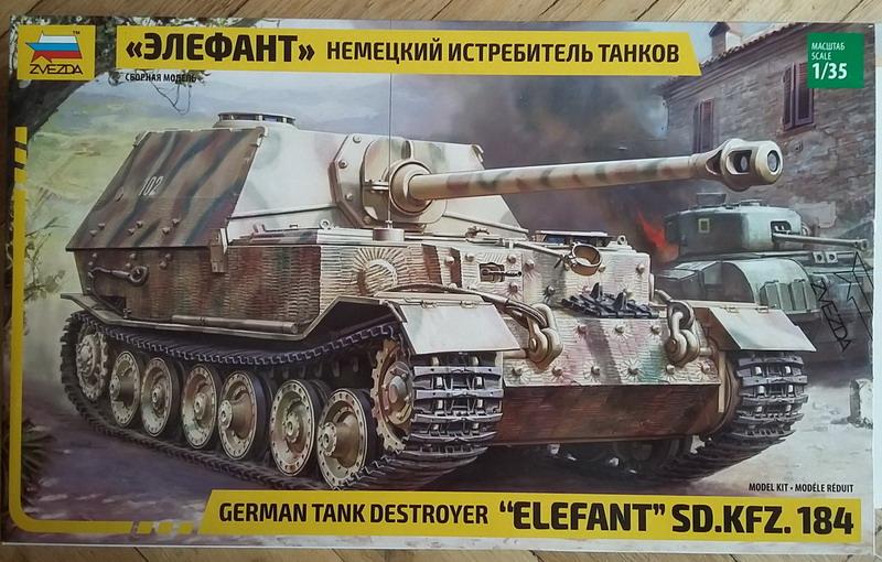 """Sd.Kfz. 184 """"Elefant""""  1/35  Zvezda 20200214"""