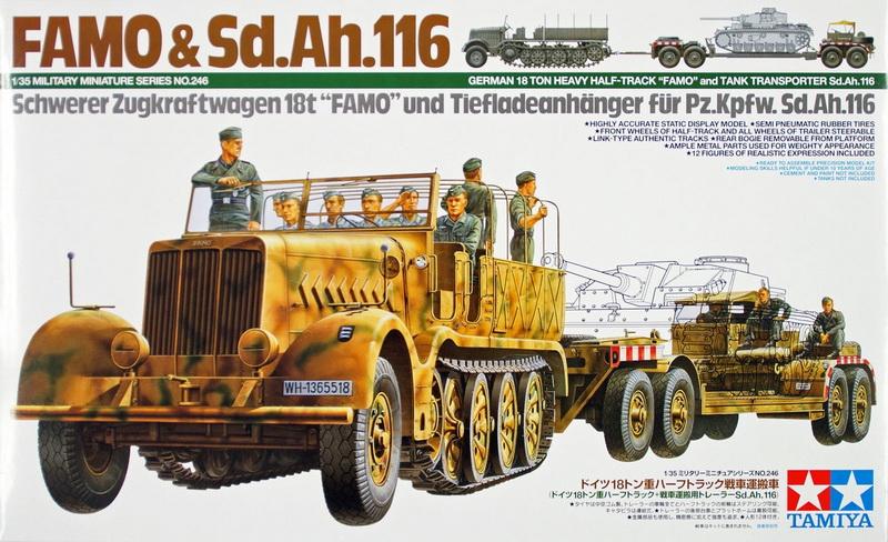 Camion Famo + remorque porte-chars  - 1/35 -  Tamiya Famo-s10