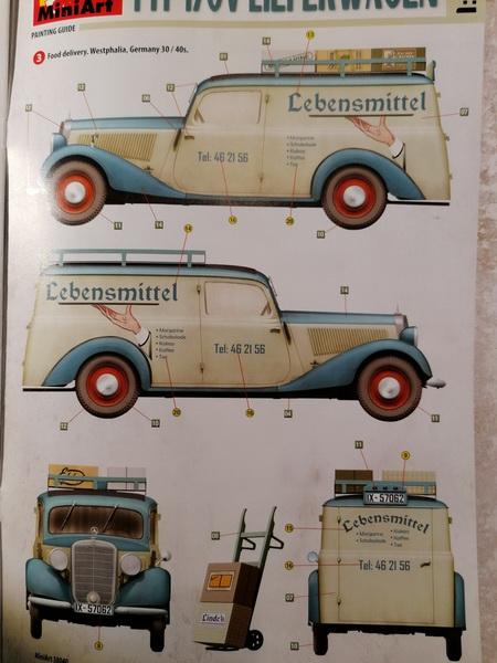 "Camionnette Mercedes 170V ""Lieferwagen"" - 1/35ème - MiniArt Img_2667"