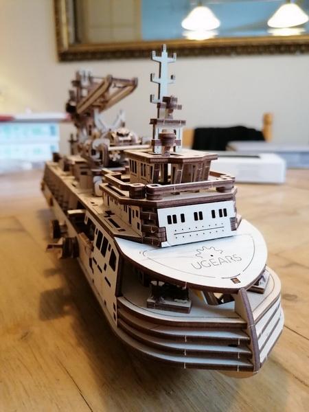 """Kit à encliqueter """"Research Vessel"""", échelle ? [UGEARS Mechanical Models] Img_2959"""