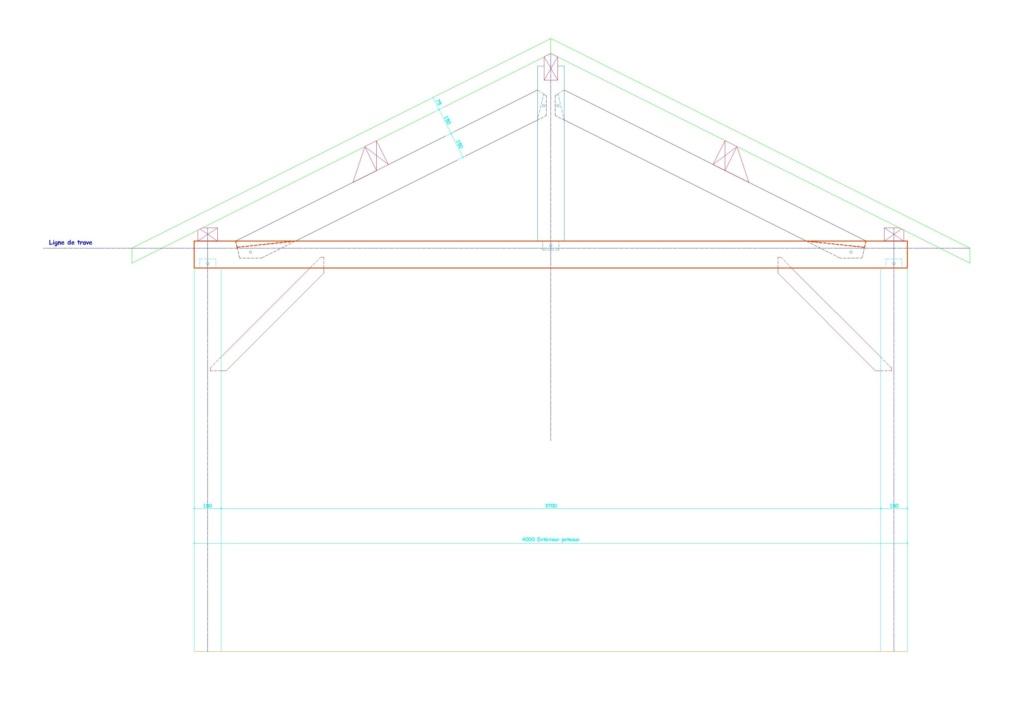 Construction d'un abri de jardin en bois Coupe_10