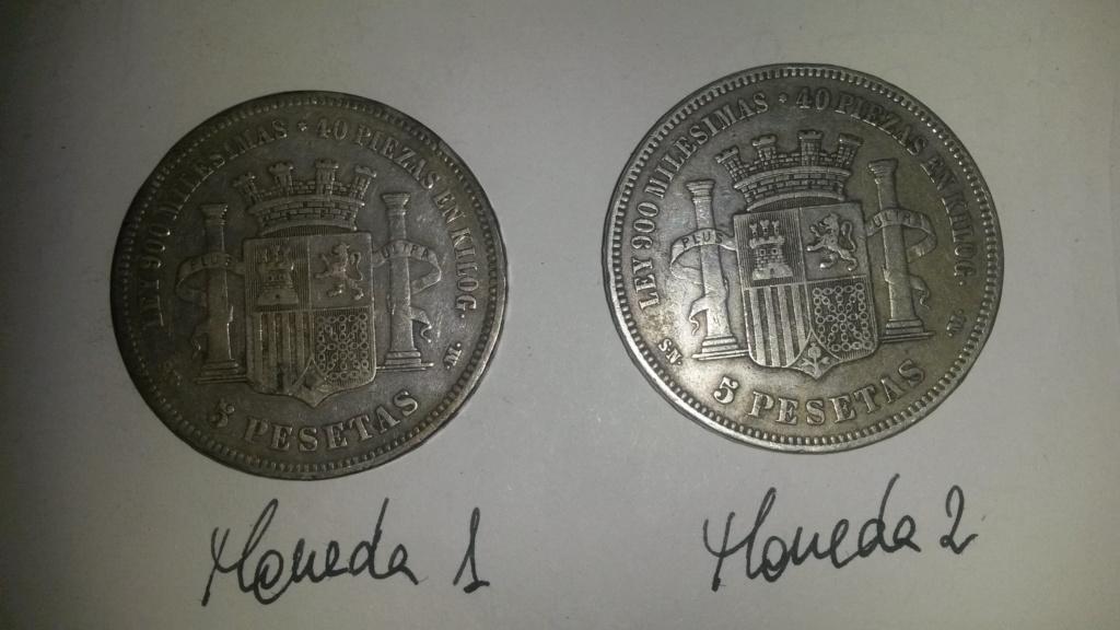 5 pesetas 1870. Gobierno Provisional. Dos duros y un papel... Cara_111