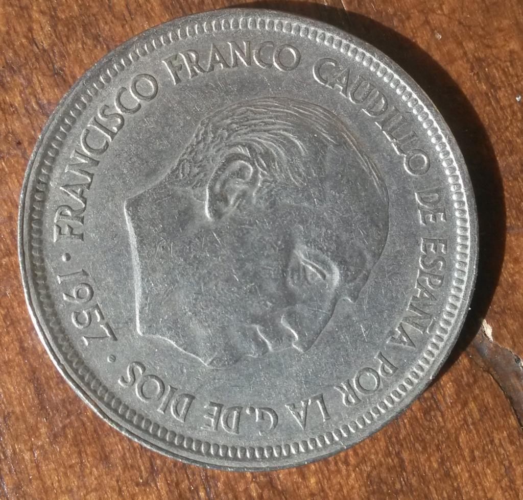 50 pesetas de 1957 (*59). Estado Español....y un minimisterio Cara_112