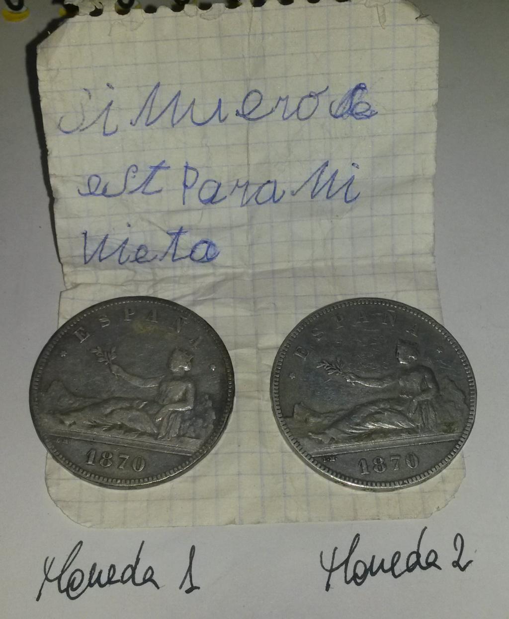 5 pesetas 1870. Gobierno Provisional. Dos duros y un papel... Con_pa10