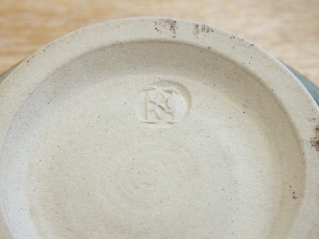 Green studio pottery bowl Dscf8711